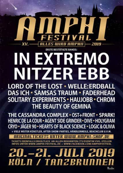 Amphi Festival 2019 – Die ersten Bands sind bestätigt