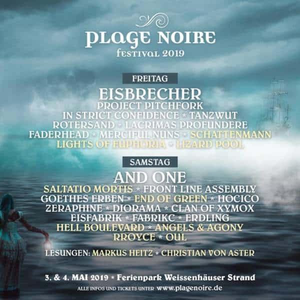 Das Plages Noire komplettiert sein Line Up für 2019