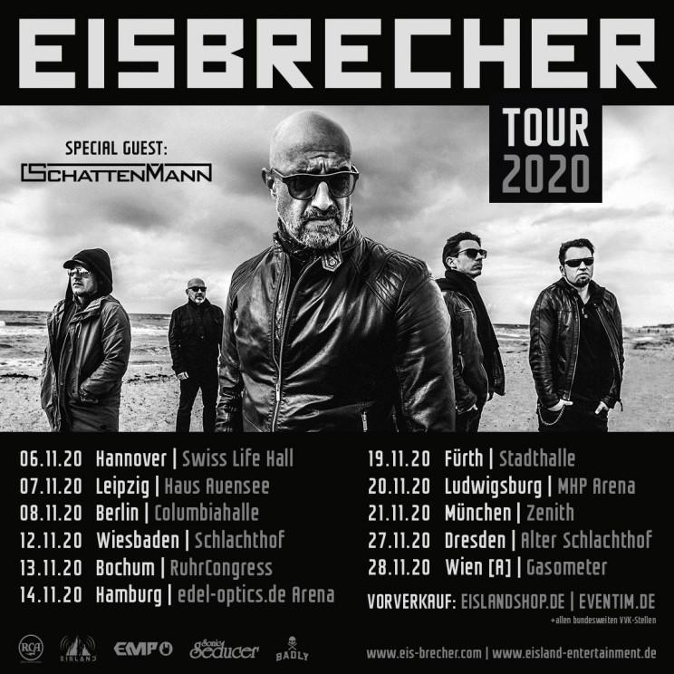 Eisbrecher kündigen Tour und Album für 2020 an.